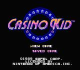 Casino Kid NES Title screen
