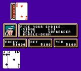 Casino Kid 2 NES Playing blackjack