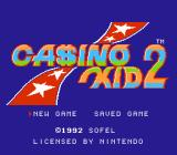 Casino Kid 2 NES Title screen