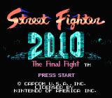 Street Fighter 2010: The Final Fight NES Title screen