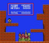 Tetris NES Your points are being processing in this screen with an musician angel (Kid Icarus?) and a miniatured St. Basil's Cathedral.