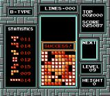 Tetris NES Put the best record using only 25 lines in Tetris B-TYPE Mode: you did it!