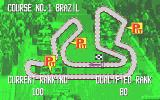 Continental Circus Atari ST The first race map