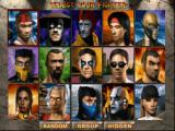 Mortal Kombat 4 Windows The Fighters u get to select from