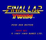 Final Lap Twin TurboGrafx-16 Title Screen