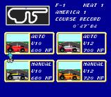 Final Lap Twin TurboGrafx-16 Setting up for F-1 Mode