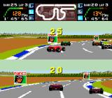 Final Lap Twin TurboGrafx-16 Races have LOTS of cars on screen.