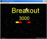 Breakout 3000 Windows 3.x Title screen