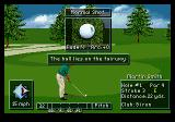 PGA Tour Golf III Genesis Applying fade to a shot, resulting in an out-then-in curve