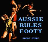 Aussie Rules Footy NES Title screen