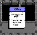 Swords and Serpents NES Choosing a profession for your character