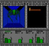 Swords and Serpents NES Fighting a giant spider