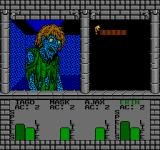 Swords and Serpents NES Fighting a zombie