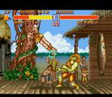 Street Fighter II SNES Dhalsim's rotating kick: hit connected!