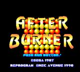 After Burner II TurboGrafx-16 Title