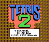 Tetris 2 NES Title screen.