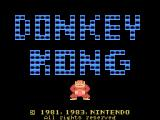 Donkey Kong TI-99/4A Title screen