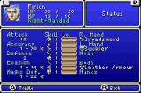 Final Fantasy I & II: Dawn of Souls Game Boy Advance Stats (FF2)