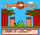 Banana Prince NES Title screen