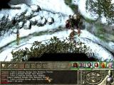 Icewind Dale II Windows Fighting giant and some barbarians