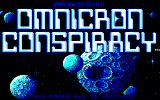 Omnicron Conspiracy DOS Title Screen