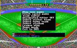 HardBall II DOS Main menu (EGA)