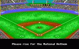 HardBall II DOS This game was made in Canada, but you have to rise for the US National Anthem! (EGA)