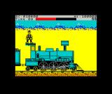 Express Raider ZX Spectrum Got to the front, hence the money bags