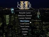 Law & Order II: Double or Nothing Windows Main Menu