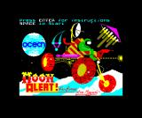 Moon Alert ZX Spectrum Title screen (also used during loading minus the top text)