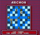 Archon: The Light and the Dark NES Dark side controls all five powerpoints and thus wins the game
