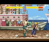 Street Fighter II SNES Zangief's Double Lariat striking Ken's face