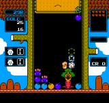 Wario's Woods NES Place the monsters and bombs correctly to damage a boss