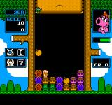 "Wario's Woods NES The monsters marked with a ""?"" can only be destroyed after they have revealed their true color"