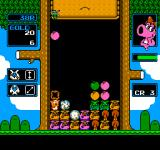 Wario's Woods NES As shown on the left side of the screen, some monsters can only be destroyed in a diagonal line