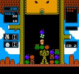 Wario's Woods NES You can walk over bosses, but don't let them materialize inside Toad!