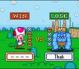 Wario's Woods SNES Toad has defeated one of the tougher enemies on hard difficulty setting