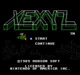 Xexyz NES Title Screen
