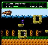 Xexyz NES The first level - the ship is dropping off enemies.