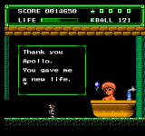 "Xexyz NES After defeating a mid-boss, one of the ""Hot Spring Fairies"" gives you a reward."