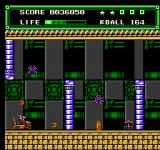 Xexyz NES A Shooter sequence inside a mechanical castle.