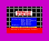 Footballer of the Year ZX Spectrum Title / credits screen