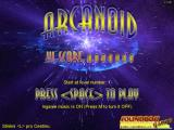 Arcanoid Windows Main menu