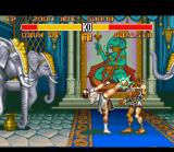 Street Fighter II Turbo SNES Chu-Li's high kick was connected in Dhalsim's face: an accurate hit!