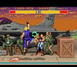 Street Fighter II Turbo SNES Ken in action with his Shoryuken.