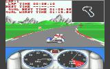 Combo Racer Atari ST Taking a corner, with the track map obscuring the view slightly