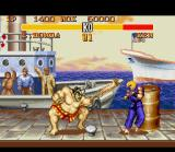 Street Fighter II Turbo SNES E. Honda surrounds Ken with a row of fast punches: how strike back now?