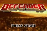 Defender Game Boy Advance Title screen.