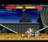 Street Fighter II Turbo SNES Chun-Li's throw is very sinister! Take some distance to not be catched for it...
