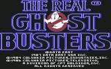 The Real Ghostbusters Commodore 64 Title